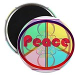 Abstract Peace Sign Magnet