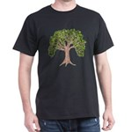 Spring Tree Black T-Shirt