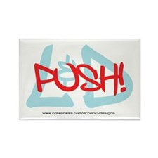 Push! Rectangle Magnet