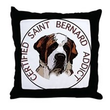 saint bernard addict Throw Pillow
