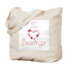 I Love Sewing Thread and buttons Tote Bag