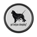 Belgian Sheepdog Large Wall Clock