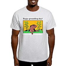 Happy groundhog day!  Ash Grey T-Shirt