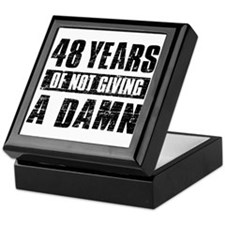 48 years of not giving a damn Keepsake Box