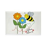 Bee Love Rectangle Magnet (10 pack)