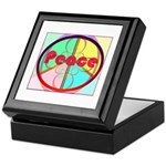 Abstract Peace Sign Keepsake Box