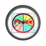 Abstract Peace Sign Wall Clock