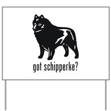 Schipperke Yard Sign