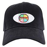 Abstract Peace Sign Black Cap