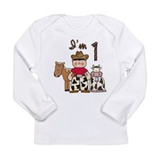Cowboy First Birthday Long Sleeve Infant T-Shirt