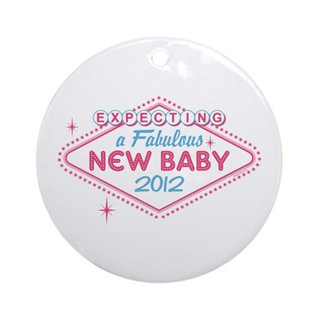 Las Vegas Expecting '12 Ornament (Round)