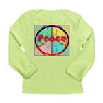 Abstract Peace Sign Long Sleeve Infant T-Shirt
