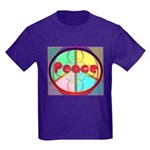 Abstract Peace Sign Kids Dark T-Shirt