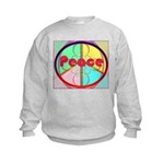 Abstract Peace Sign Kids Sweatshirt