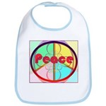 Abstract Peace Sign Bib