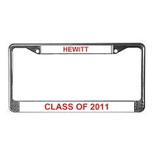 Hewitt Class of 2011 License Plate Frame
