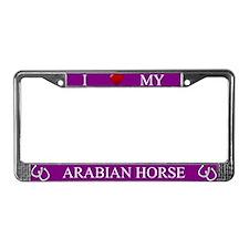 Purple I Love My Arabian Horse Frame