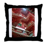 Singapore Buddha Tooth Temple Throw Pillow