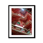 Singapore Buddha Tooth Temple Framed Panel Print