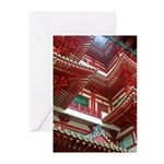 Singapore Buddha Tooth Temple Greeting Cards (Pk o