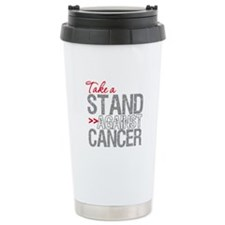 Take a Stand Lung Cancer 2 Ceramic Travel Mug