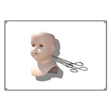 Creepy Doll Head Banner