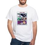 White T-Shirt I run Linux