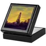 'Old Derrick Sunset' Keepsake Box
