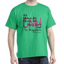 Old Midwives Pink T-Shirt
