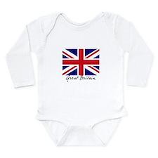 British Flag Union Jack Long Sleeve Infant Bodysui