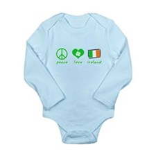 Peace Love Ireland Long Sleeve Infant Bodysuit