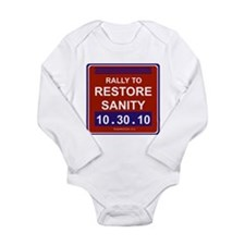 Rally to restore sanity Long Sleeve Infant Bodysuit