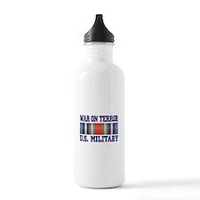 War On Terror Service Ribbon Water Bottle