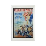 Clear the Way Poster Art Rectangle Magnet (10 pack