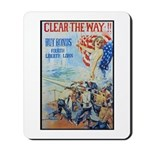 Clear the Way Poster Art Mousepad