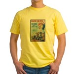 Clear the Way Poster Art (Front) Yellow T-Shirt