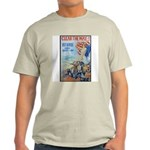 Clear the Way Poster Art (Front) Ash Grey T-Shirt