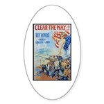 Clear the Way Poster Art Oval Sticker