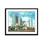 San Diego Train Station Framed Panel Print