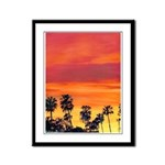 Red Sunset California Framed Panel Print