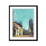 Train Station Depot Framed Panel Print