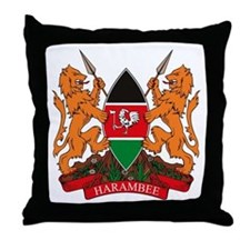 Kenya Coat of Arms Throw Pillow