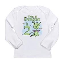 Lil Dragon 2nd Birthday Long Sleeve Infant T-Shirt