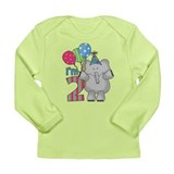 Lil Elephant 2nd Birthday Long Sleeve Infant T-Shi