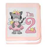 Kitty Princess 2nd Birthday Infant Blanket