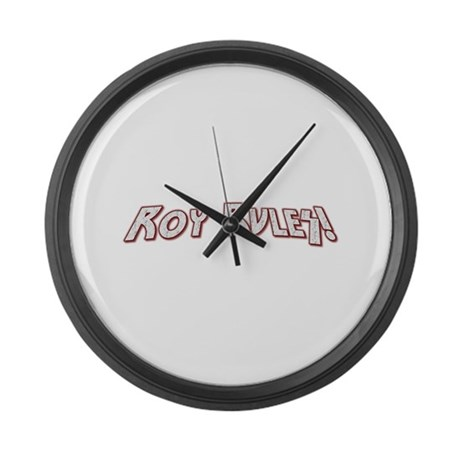Roy Rules Large Wall Clock