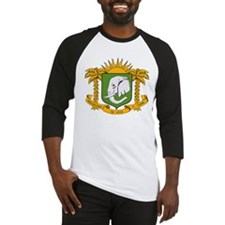 Ivory Coast Coat of Arms Baseball Jersey