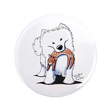 "Deer Lover Sammy 3.5"" Button (100 pack)"