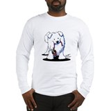Penguin Sled Samoyed Long Sleeve T-Shirt