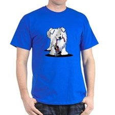 Penguin Sled Samoyed T-Shirt